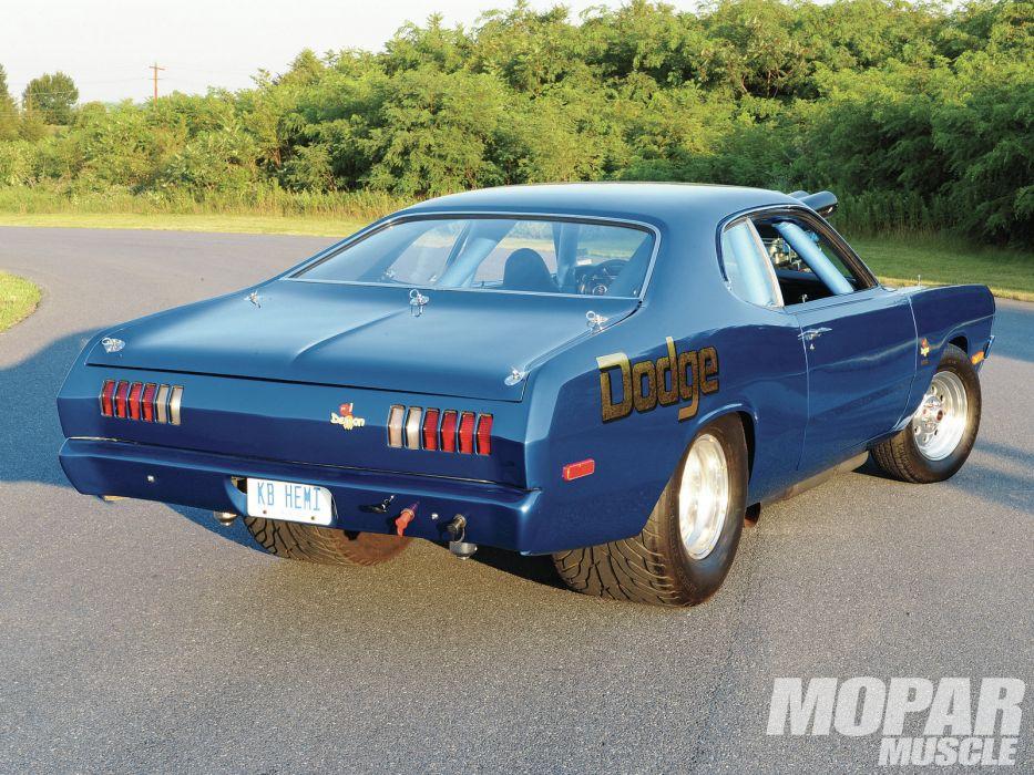 Hemi Powered 1971 Dodge Demon drag racing race cars muscle hot rod roads wallpaper