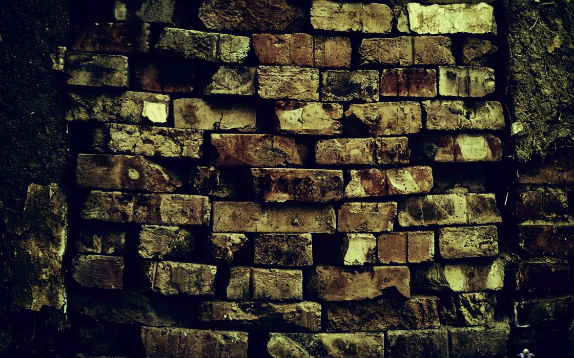 brick wall pattern decay ruin wallpaper