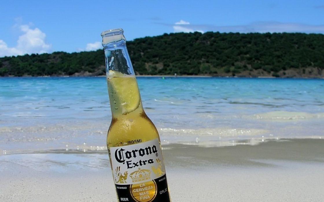 Corona Beach Wallpaper: Beers Beach Bottles Corona Wallpaper
