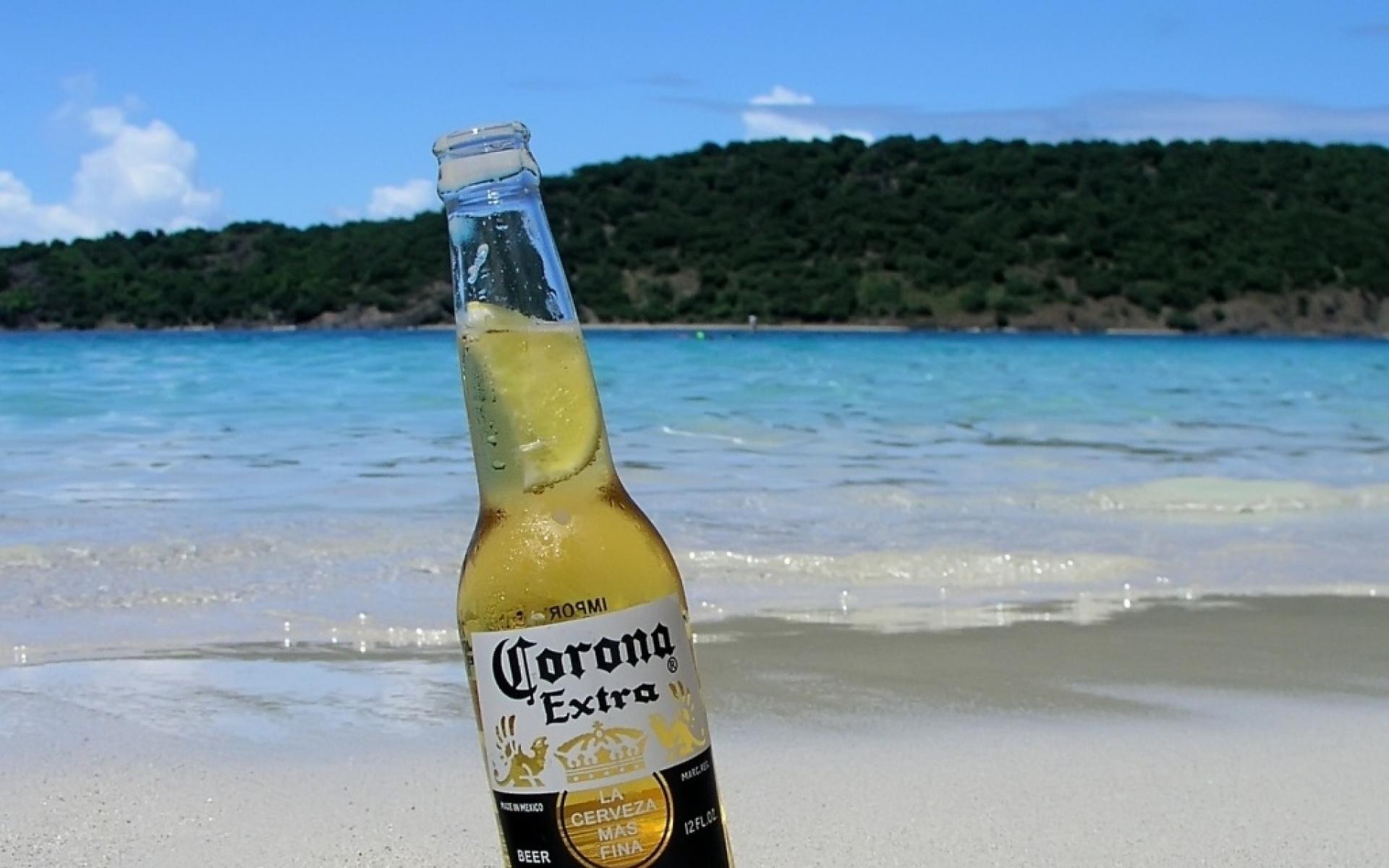 Beers Beach Bottles Corona Wallpaper