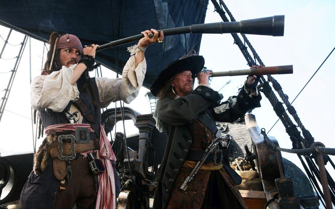 Pirates of the Caribbean depp humor fantasy wallpaper