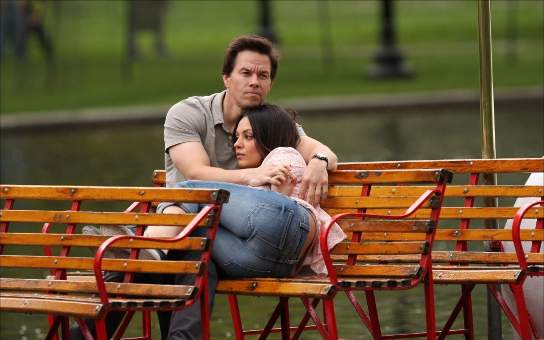 jeans mila kunis actress ass people bench actors mark wahlberg ted wallpaper