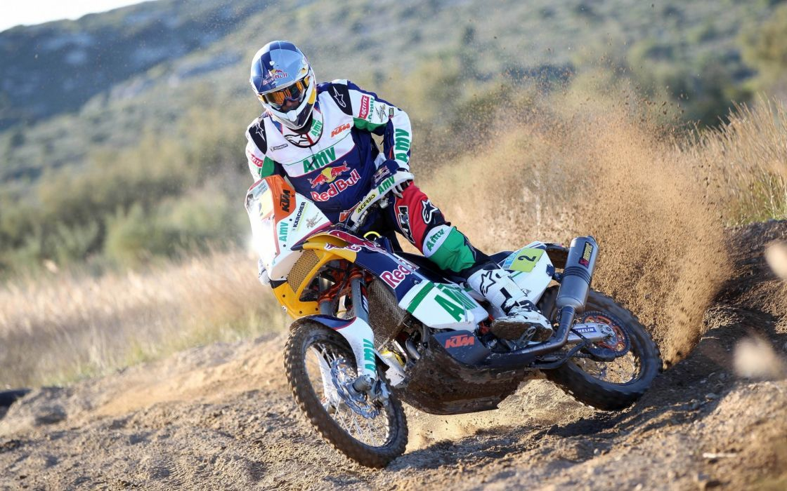 Red Bull Dakar Sport racing desert nature people bike wallpaper
