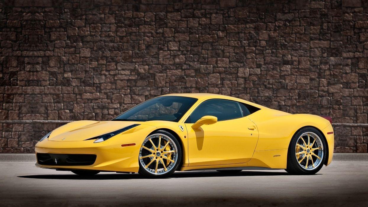 ferrari 458italia yellow supercars wallpaper