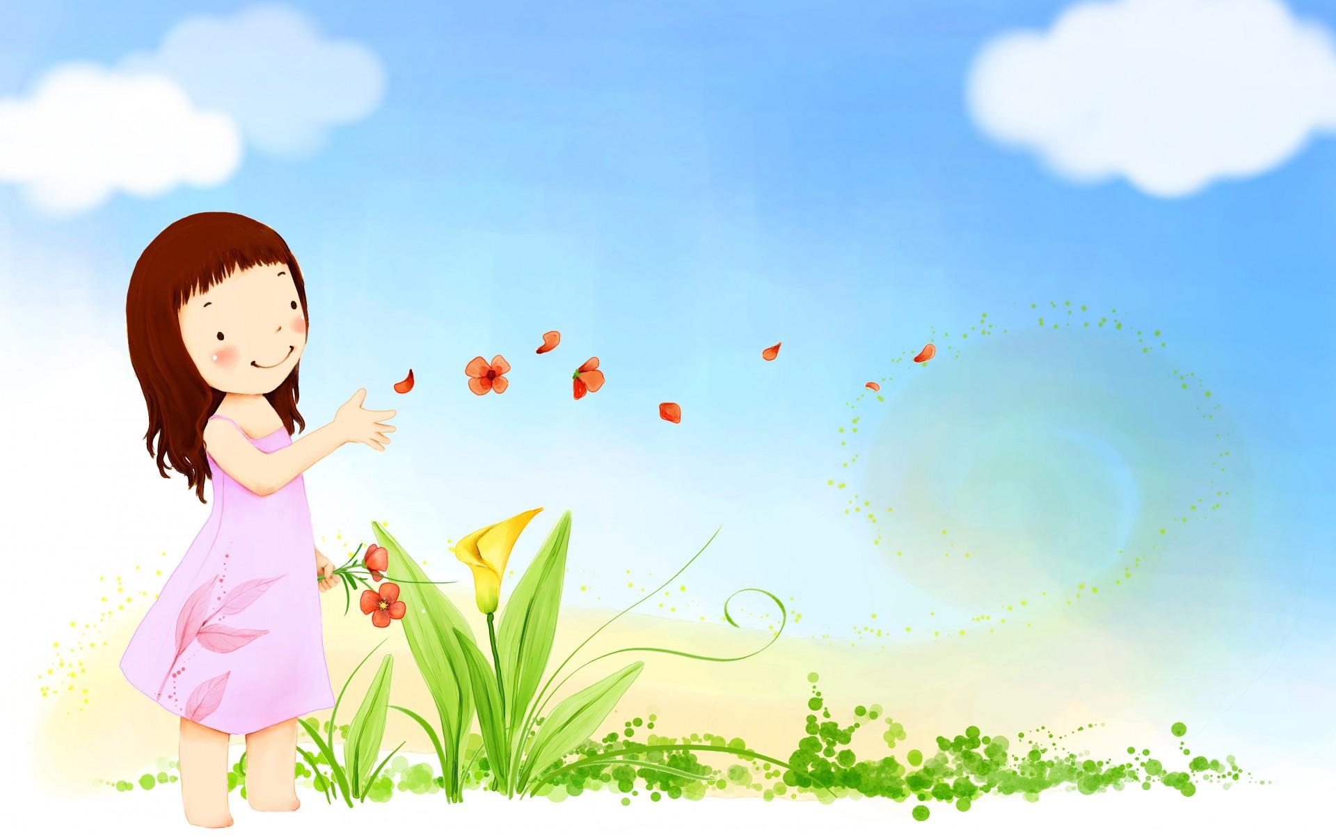 little girl butterfly wallpapers - photo #10