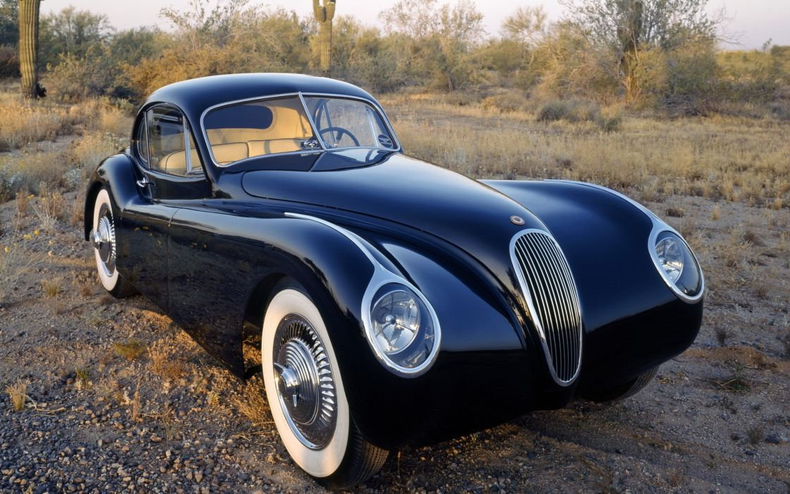 Jaguar 1953 retro classic cars wallpaper