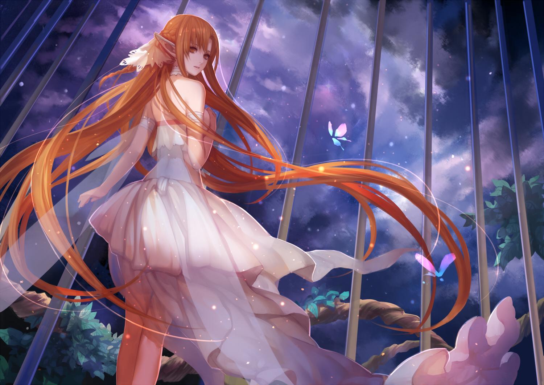 blue eyes arrows long ears anime girls butterflies 1680x1050 ...