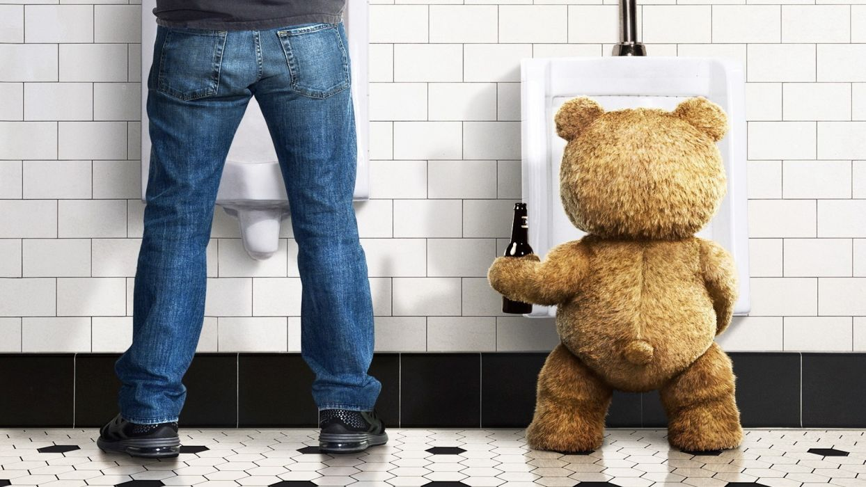 Ted teddy bear toys humor beer sadic wallpaper