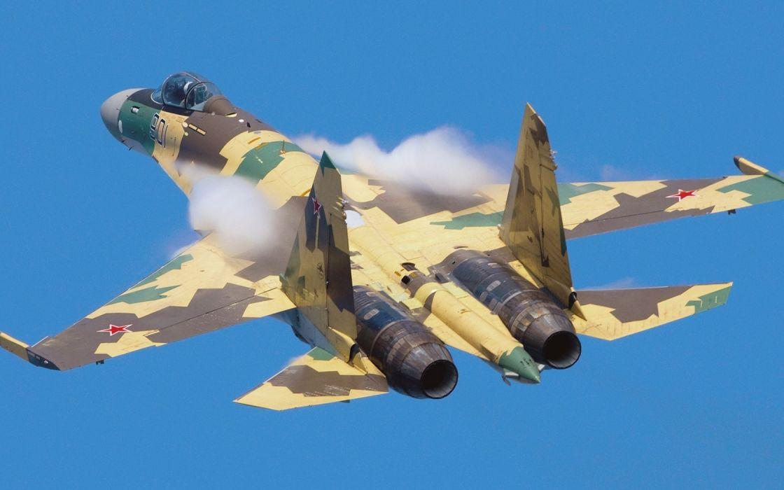 su33 flankerd aircraft aviation air force air vapor military russia weapons wallpaper