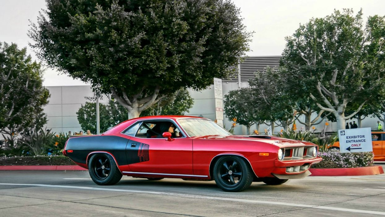 Plymouth Barracuda muscle cars hot rod roads classic cars wallpaper