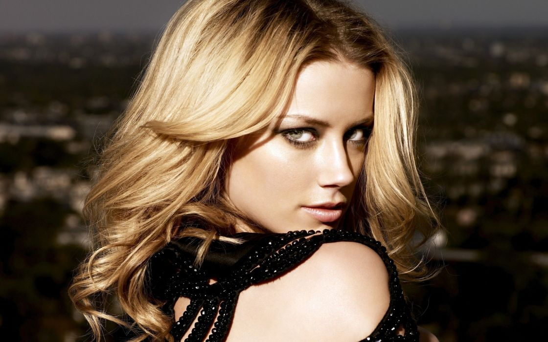 amber heard actress celeb women blondes models sexy babes face pov eyes wallpaper