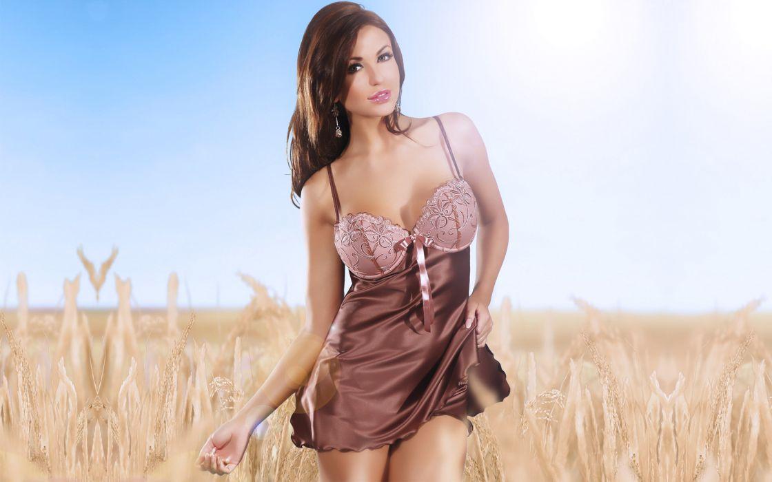 Monika Pietrasinska women models fashion brunettes sexy babes wallpaper