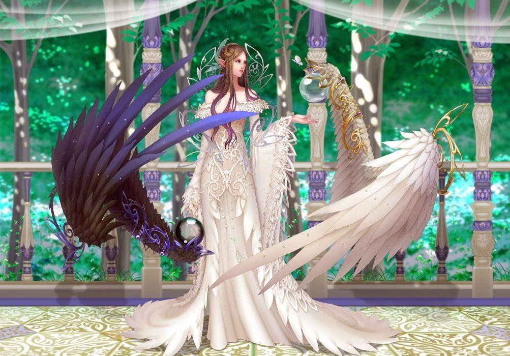 Anima Beyond Fantasy art women girl magic wings angels wallpaper