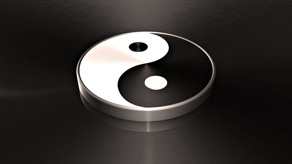 ying yang zen peace tranquil wallpaper