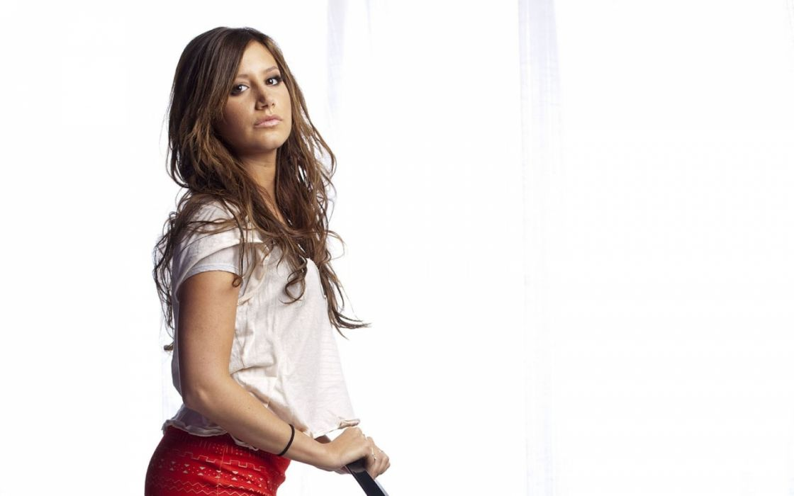 brunettes women actress people celebrity ashley tisdale singers chairs wallpaper