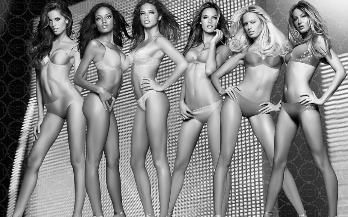 bodies females lingerie models sexy Victorias Secret women wallpaper