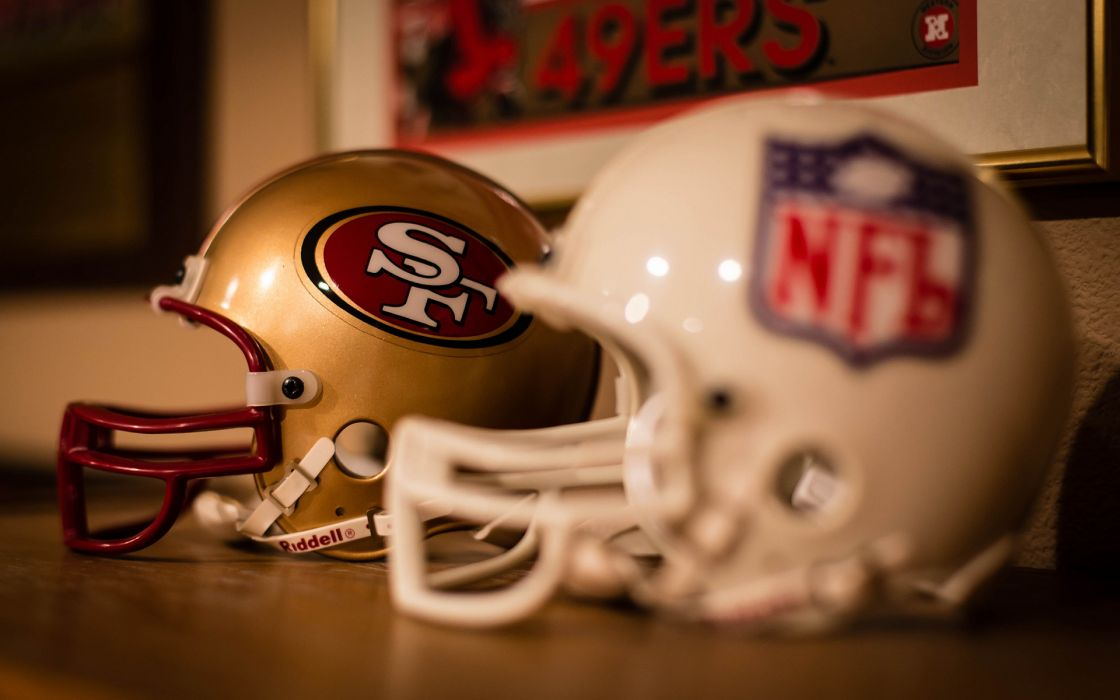 american football san francisco 49 forty niners helmet nfl wallpaper
