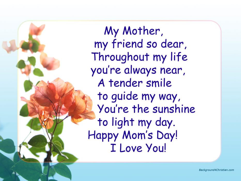 Mother's Day love friend mom mood wallpaper