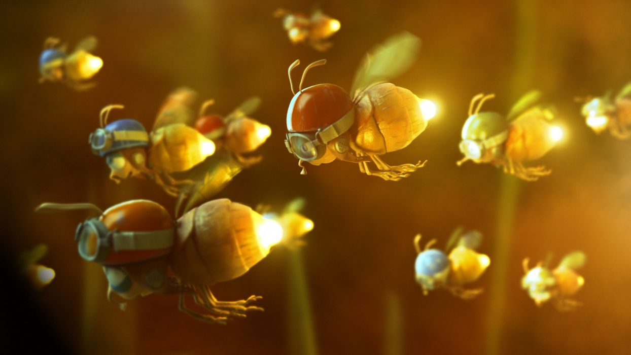 humor insect firefly googles mask wings cute flight fly wallpaper