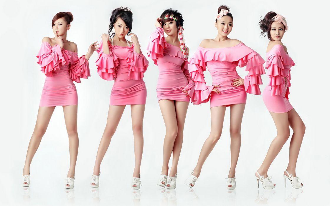 asian oriental pink style legs women models brunettes sexy babes wallpaper