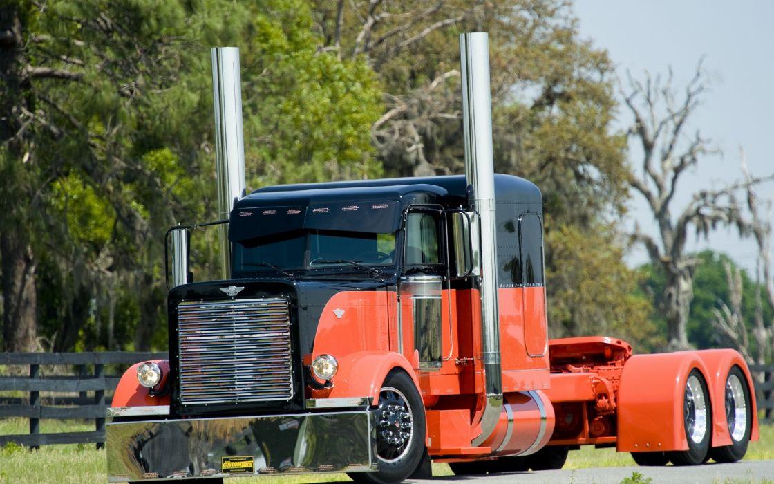 Peterbilt big rig tractor custom tuning wallpaper
