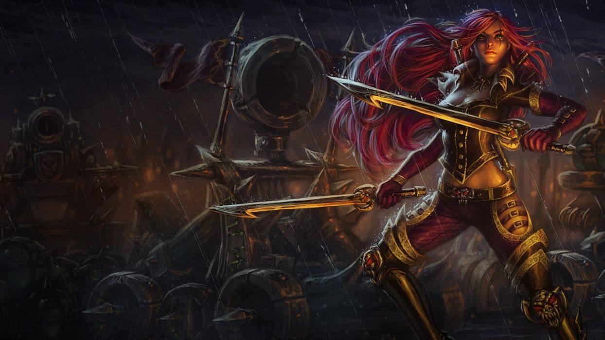 League Of Legends Fantasy Art Warriors Weapons Sword Dark Rain