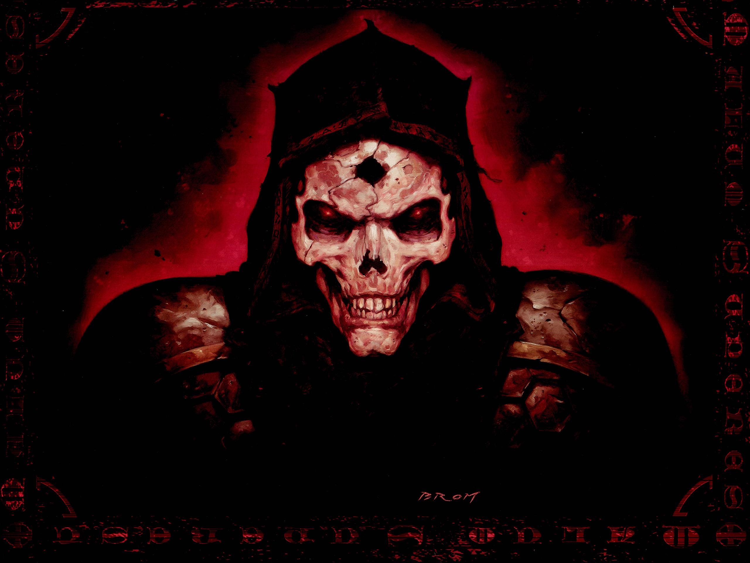 Horror skull evil scary spooky creepy face eyes wallpaper background