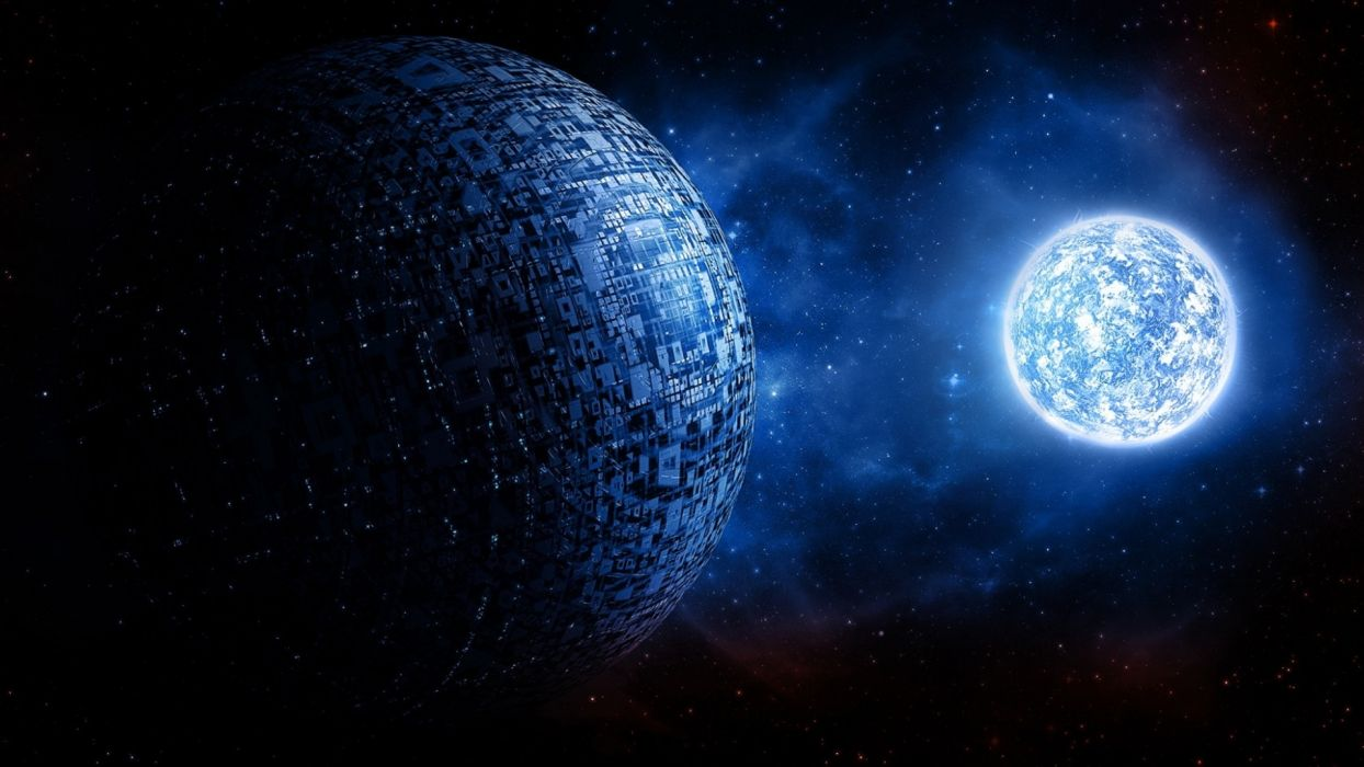 sci fi science art cg digital outer planets cities moon mech tech stars wallpaper