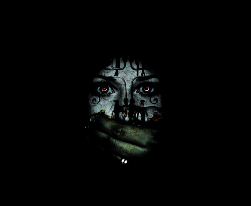 dark horror gothic women face eyes mood scary creepy spooky wallpaper