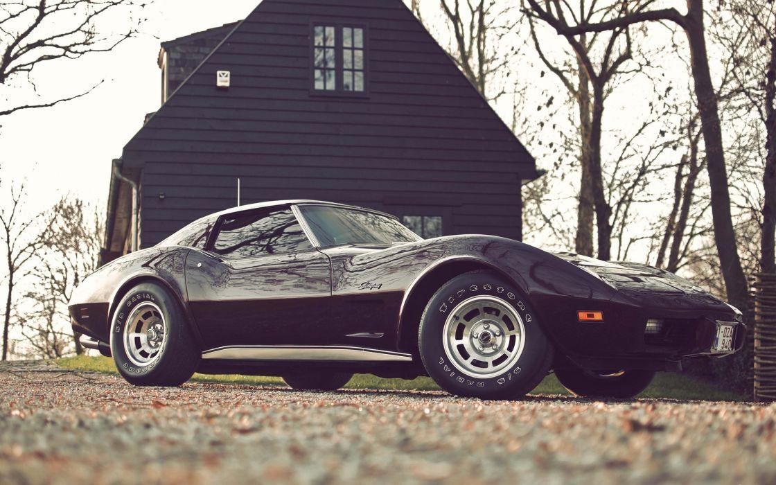 chevrolet corvette supercars muscle cars house buildings auto wallpaper