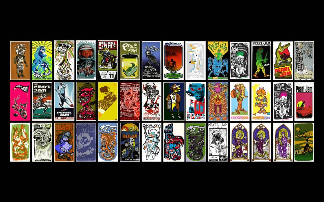 Pearl Jam bands album covers hard rock grunge vedder art wallpaper