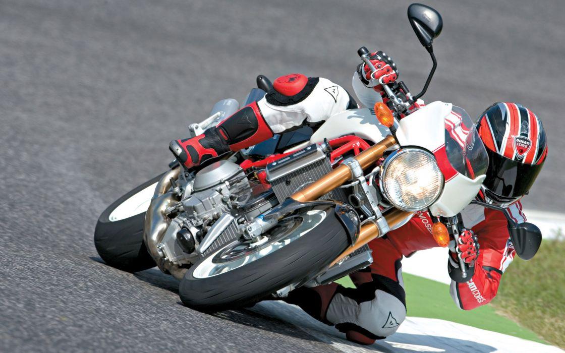 Ducati racing tuning bike track race people wallpaper