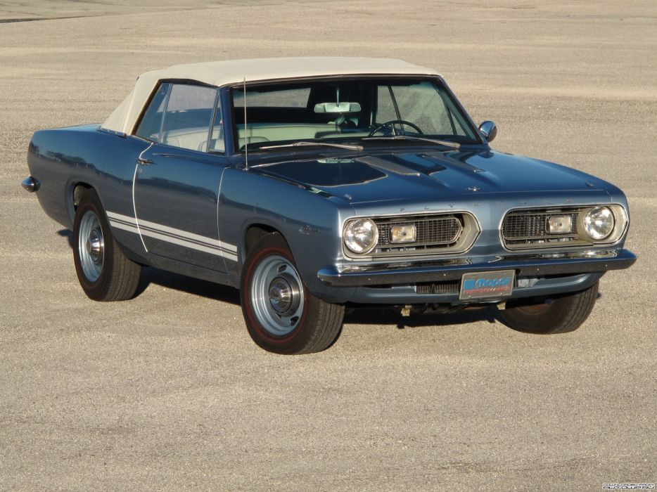 Plymouth Barracuda Convertible 1967 muscle cars classic wallpaper