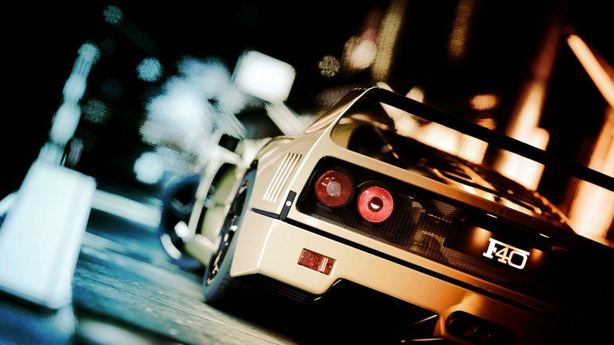 Gran Turismo Ferrari F40 supercars wallpaper