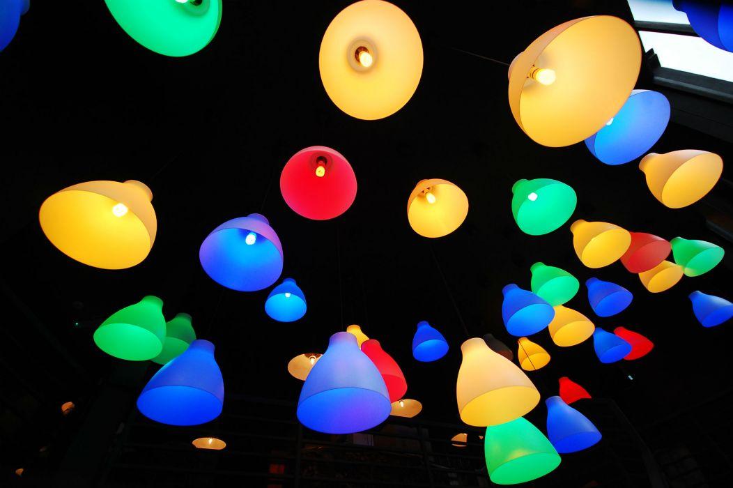 photography color lamp lights bulb contrast bokeh art wallpaper
