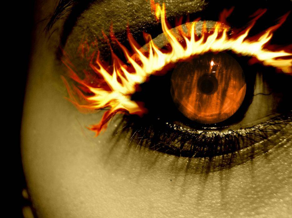 cg digital art manip dark horror occult demons fire antichrist eyes face evil satan wallpaper