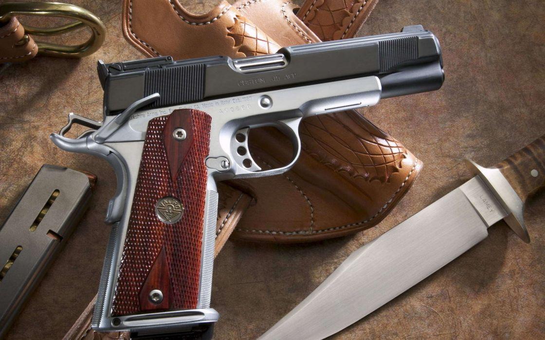 Glock weapons handguns pistol knife wallpaper