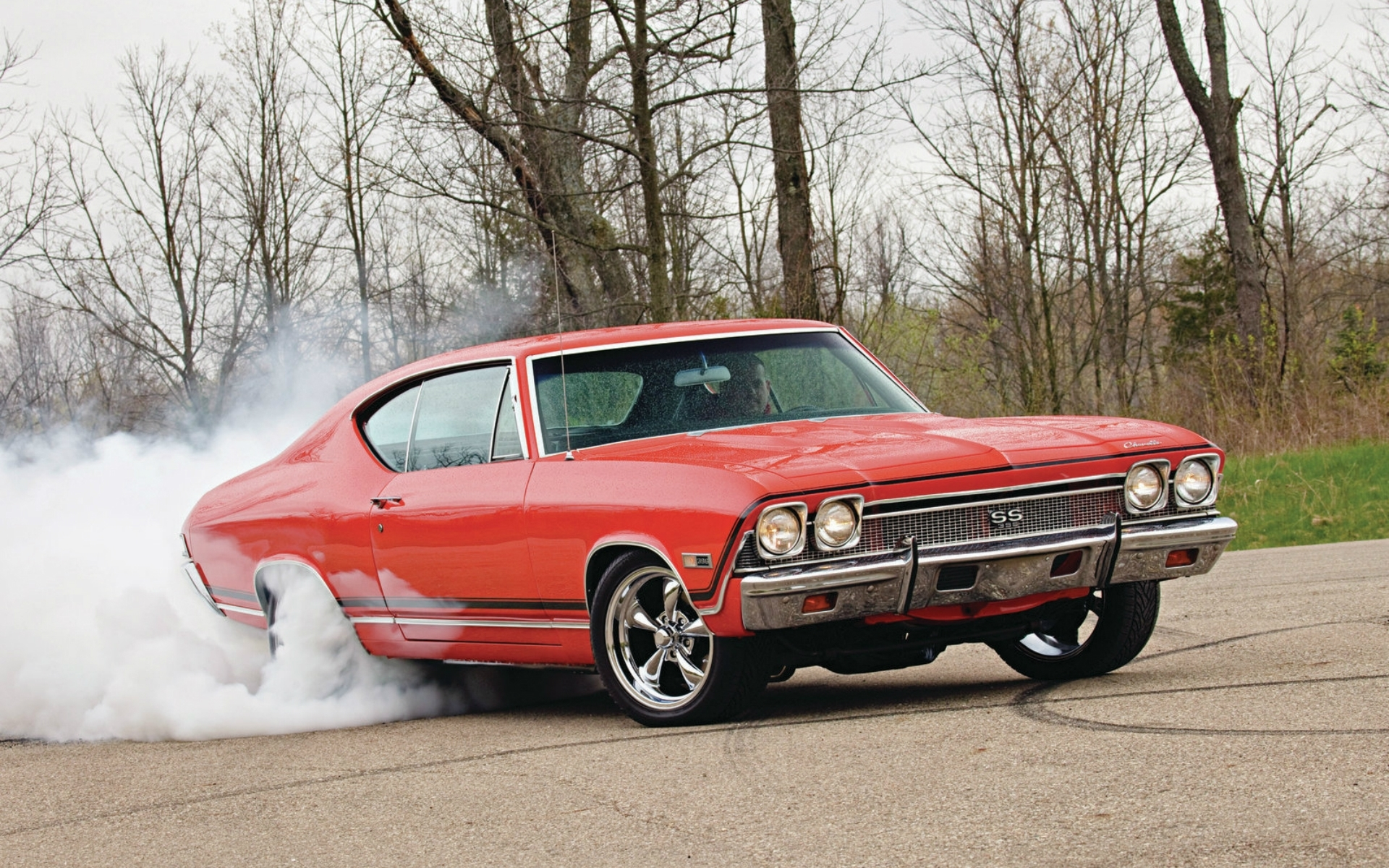 Chevrolet Chevelle Ss 1968 Burnout Roads Muscle Cars Hot Rod Smoke
