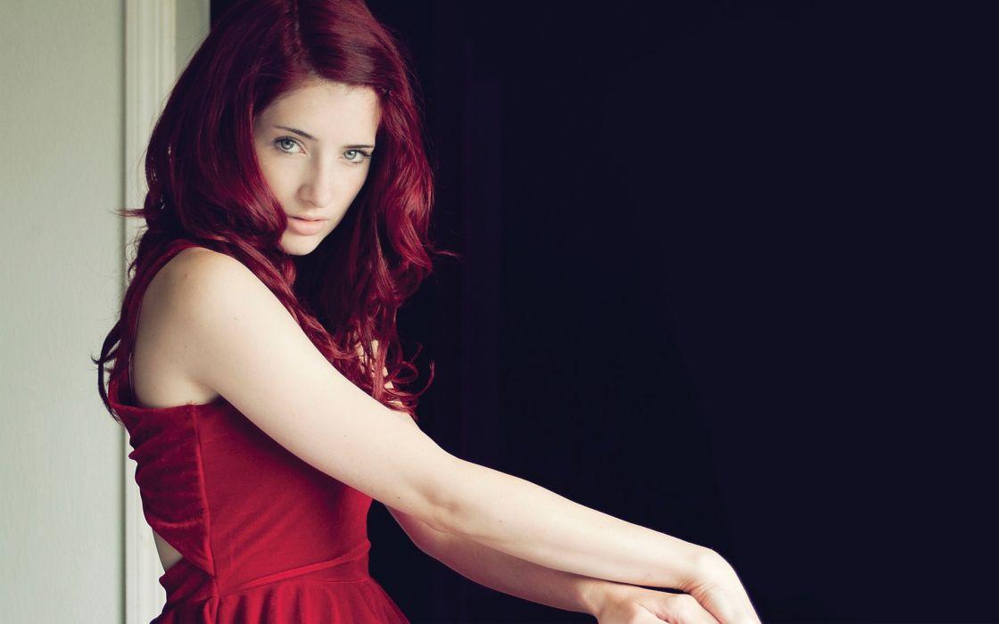 Susan Coffey glam women model redhead sexy babes face eyes pov wallpaper