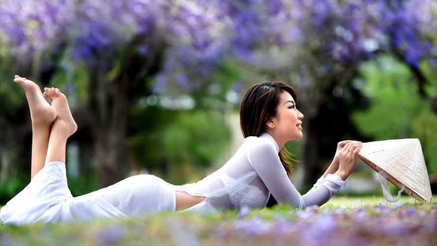 asian oriental women models brunettes sexy babes mood wallpaper