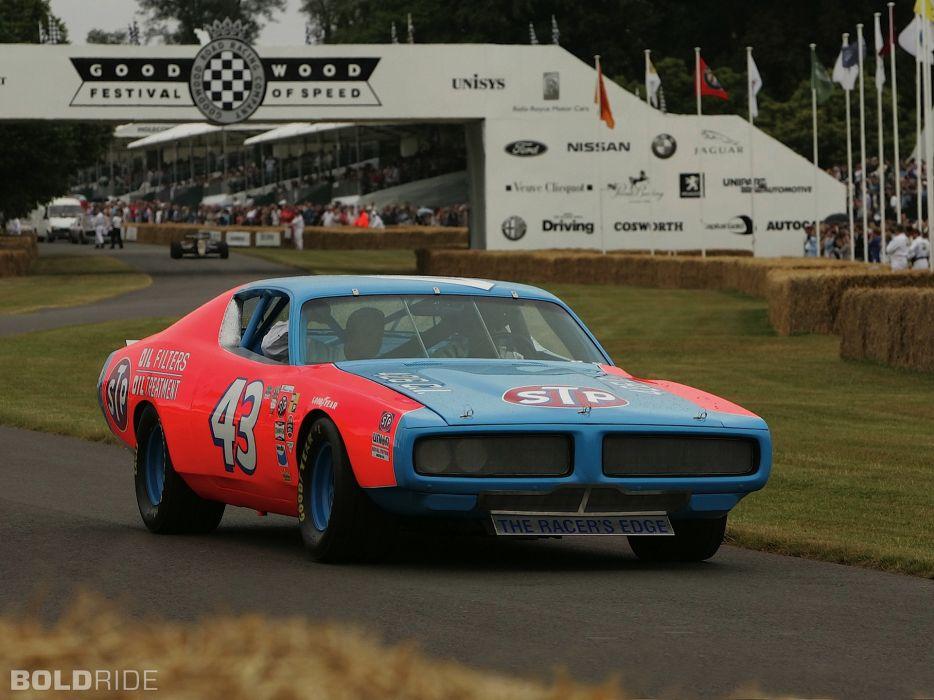 1972 Dodge Charger NASCAR Race Car sports richard petty racing track wallpaper