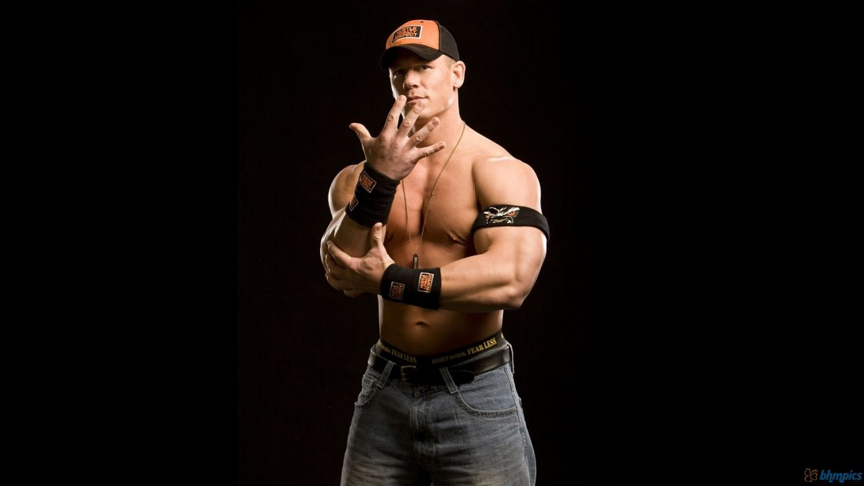 John Cena wwe wwf wrestling fitness bodybuilder muscle sexy hunk men males wallpaper