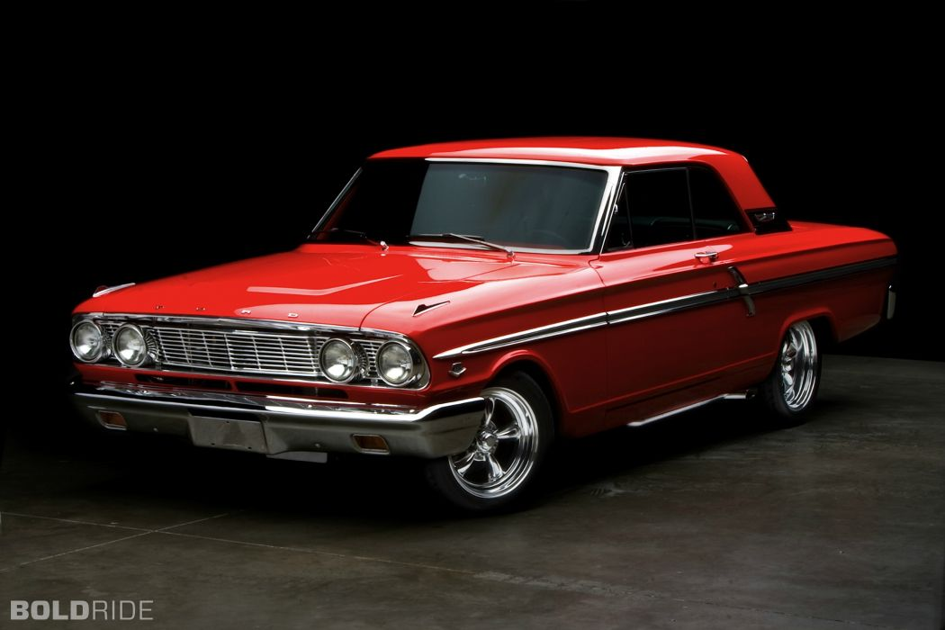 1964 Ford Fairlane 500 red hot rod muscle cars classic wallpaper