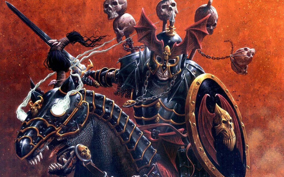 Yu-Gi-Oh! anime Skull Servant warriors weapons skulls dark demon horse fantasy art wallpaper