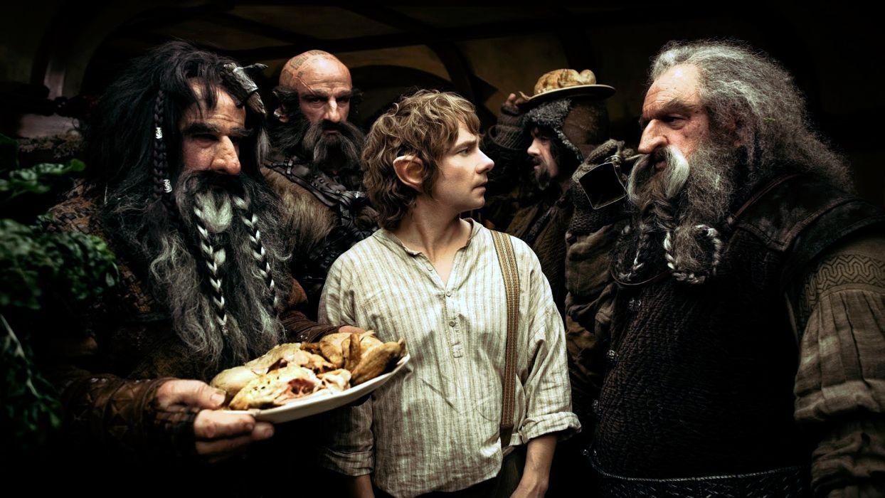 The Hobbit Lord of the Rings Bilbo fantasy dwarf warriors wallpaper