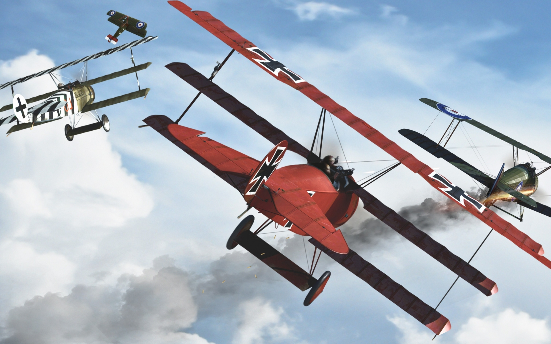 red baron airplane art military battles war weapons flight fly