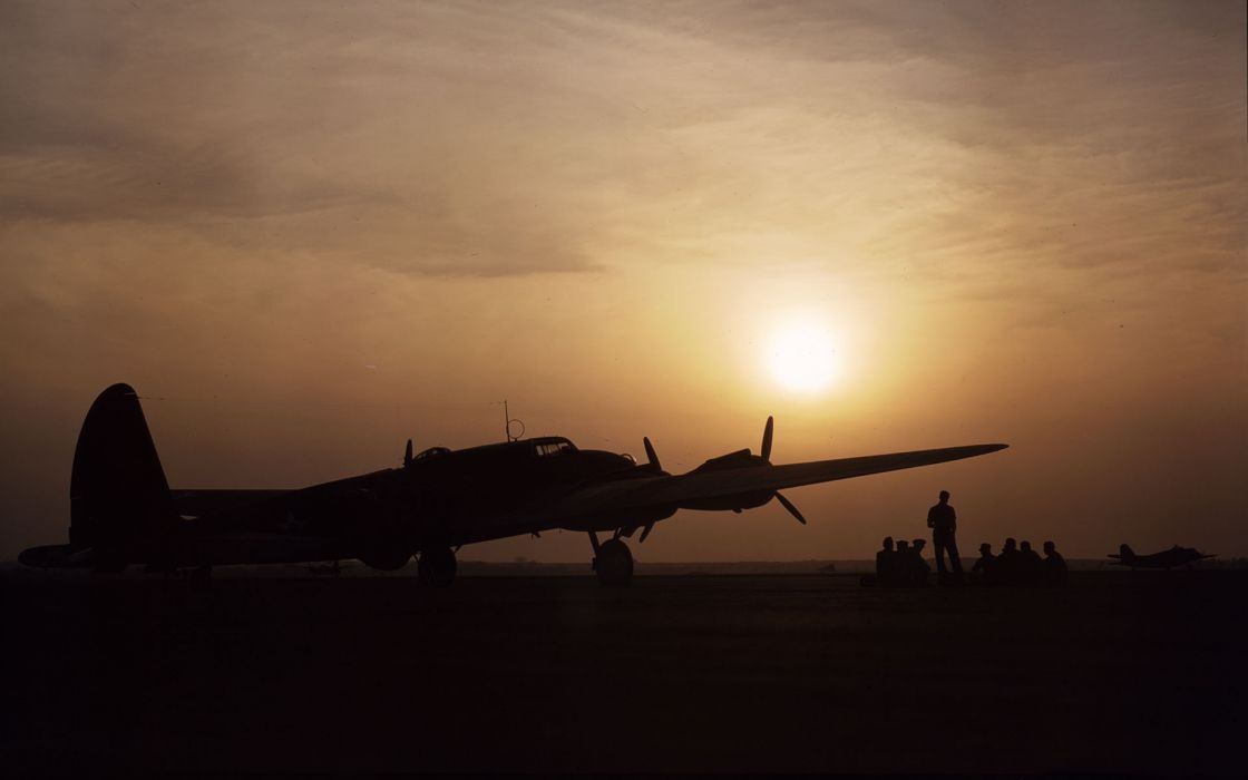 military air force men warriors soldiers sunset sunrise sky clouds airplane wallpaper