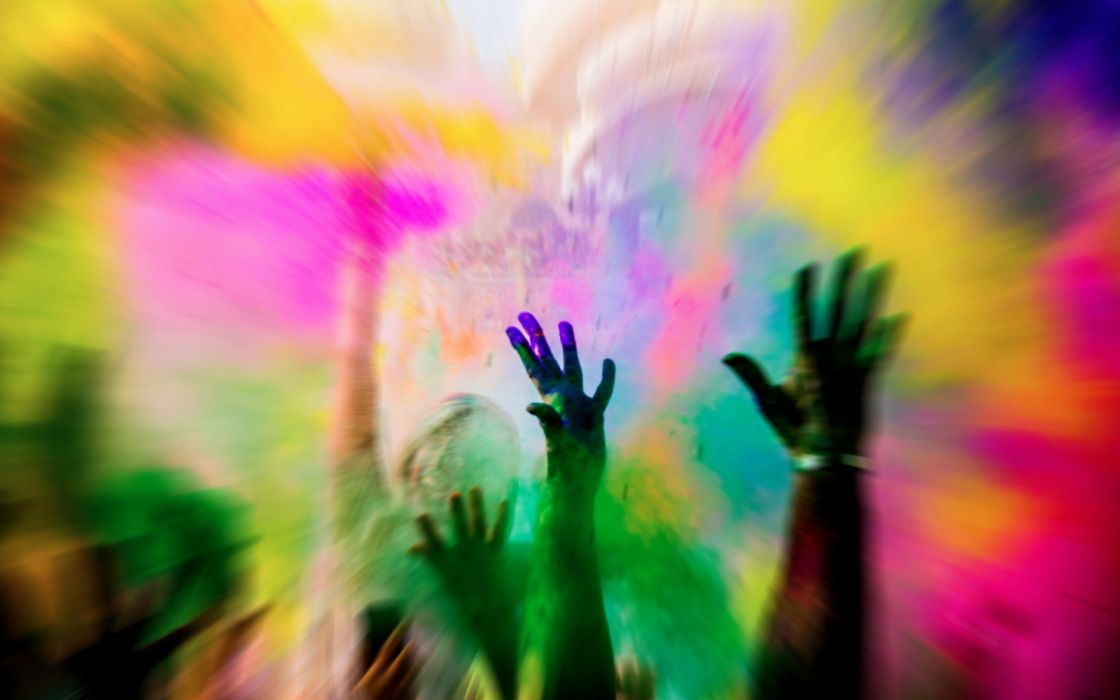 crowd holidays color photography hands people abstract powder wallpaper