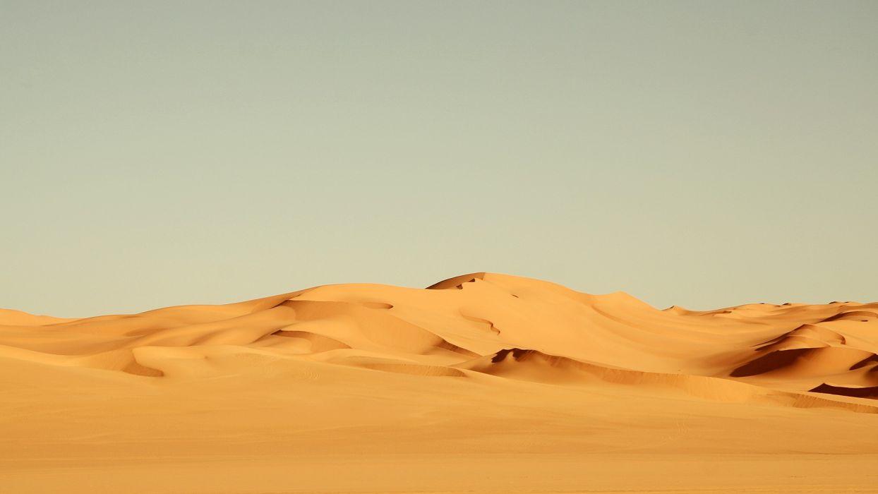 desert sand dunes sky wallpaper