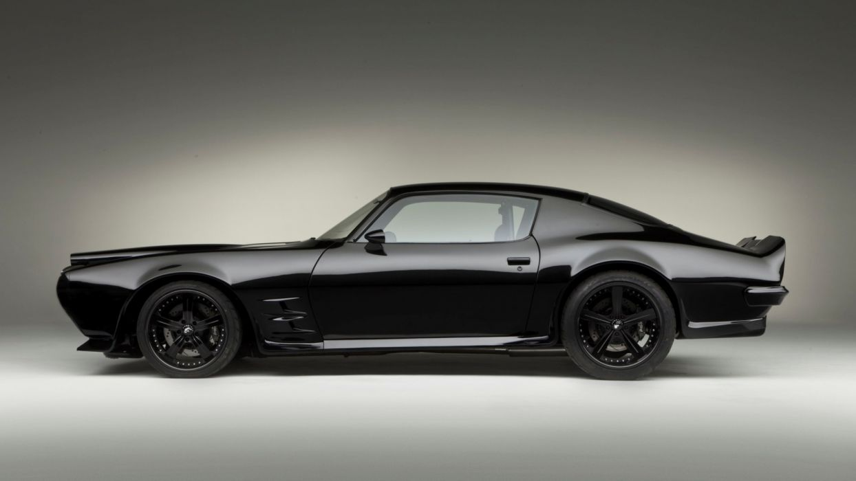 black cars sports cars pontiac firebird 1970 customized muscle car garage wallpaper